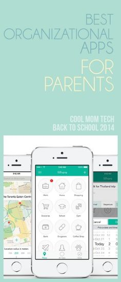 Terrific list of 10 of the best organizational apps for parents as we head into September