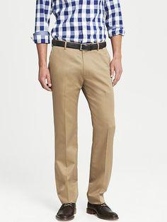 Tailored Slim Non-Iron Cotton Pant