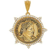 Judith Ripka 14K_Clad Diamonique Replica Coin Enhancer