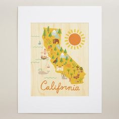 Large California Map Wall Art | World Market