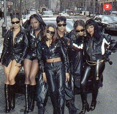 """The popular singing group """"Total"""" with female rappers Lil' Kim, Da Brat & Foxy Brown Hip Hop And R&b, 90s Hip Hop, Love N Hip Hop, Hip Hop Rap, Hip Hop Fashion, 90s Fashion, School Fashion, Lolita Fashion, Couture Fashion"""