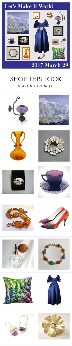 """Let's Make It Work!"" by anna-ragland ❤ liked on Polyvore featuring Fontana, Pauline Trigère, contemporary and vintage"