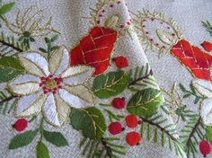 Beautiful new and vintage Christmas linens from Germany, Sweden, Hungary...