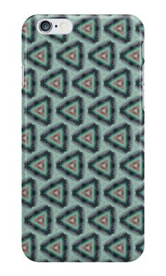 """Grunge texture ""striped triangles"""" iPhone Cases & Skins by floraaplus 