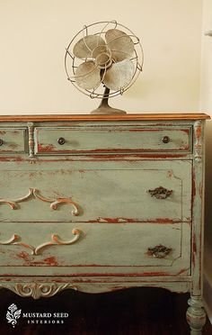 Painted with Annie Sloan Chalk Paint. LOVE the color!