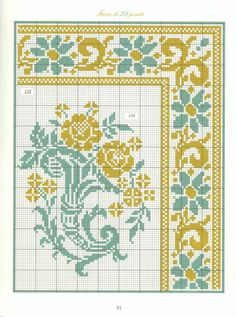 134 e 135 Cross Stitch Geometric, Cross Stitch Borders, Cross Stitch Rose, Cross Stitch Charts, Cross Stitch Designs, Cross Stitch Embroidery, Embroidery Patterns, Cross Stitch Patterns, Seed Bead Patterns