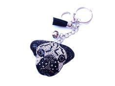 Bulldog kristály kulcstartó és táskadísz Key, Personalized Items, Unique Key