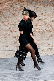 All Black Everything #paris #couture #rihanna