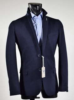 Fashion blue slim fit Viapiana stretch Jacket