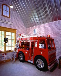 Fire Truck Bed Woodworking Plan Twin Size by Plans4Wood on Etsy ...