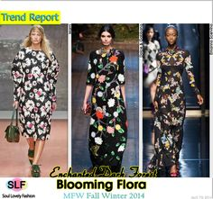 Enchanted Dark Forest Blooming Flora #FashionTrend for Fall Winter 2014 at #MFW #Trends #FW2014 #Fall2014