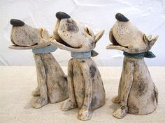JJ Vincent ceramic dogs
