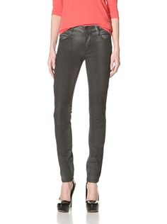 70% OFF Rockstar Women's Biker Washed Jean (Vintage Pigment Black)