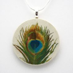 Peacock Feather Necklace, $22, now featured on Fab.