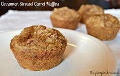 Cinnamon Streusel Carrot Muffins