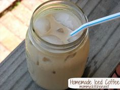 Mommy's Kitchen - Home Cooking & Family Friendly Recipes: Homemade Iced Coffee My New Addiction. So much cheaper making your own DIY Coffee Concentrate for Flavored Iced Coffee. Homemade Iced Coffee, Iced Coffee At Home, Coffee Drinks, Coffee Coffee, Starbucks Coffee, Coffee Break, Coffee Maker, Coffee Plant, Coffee Girl