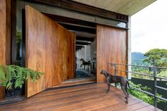 Concrete house by Paz Arquitectura sits against a hill in Guatemala Home Door Design, Front Door Design, House Design, Interior Decorating Styles, Interior Design Tips, Design Ideas, Design Styles, Decorating Tips, Decorating Websites