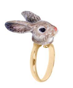 Ring RABBIT BROWN von NACH BIJOUX www.reyerlooks.com