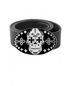 King Baby Day of the Dead Belt Mens Boots Fashion, Mens Fashion Suits, Men's Fashion, Fashion Design, King Baby Jewelry, Men's Day, Designer Clothes For Men, Cool Style, Silver