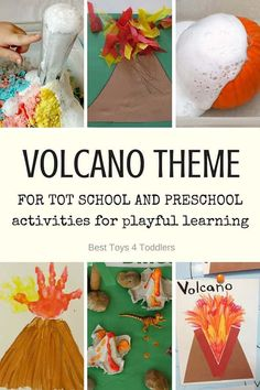 Best Toys 4 Toddlers - V is for Volcano - printable weekly planner with activities for toddlers and preschoolers Volcano Activities, Dinosaur Activities, Pre K Activities, Summer Activities For Kids, Kindergarten Activities, Preschool Activities, Dinosaur Crafts, Dinosaur Theme Preschool, Montessori Science