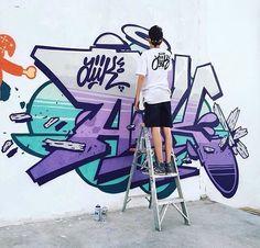Tel père tel fils @123kidsofficial x @powwowlongbeach @123klan @bandit1sm #awesome #lettering #writing #calligraphy #typography #graffiti #mural #wallart #drawing #painting #arteurbano #streetart #graphicdesign #contemporaryart