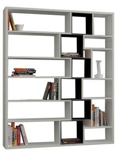 Bibliothèque Roscoe blanche et marron foncé 150 x 184 x 29 cm