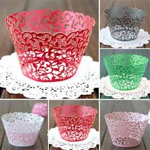 12PCS Vintage Wedding Birthday Hollow Out Vine Cupcake Wrappers Wraps Cases(China (Mainland))