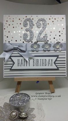 Springtime foils 32nd birthday card Stampin' Up! | Stamp with Joy | Bloglovin'