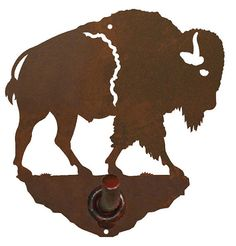 Buffalo Bath Accessories Steel over by CabinExclusive Rustic Wall Hooks, Buffalo Skull, Wildlife Decor, Bronze Patina, Bath Accessories, Metal Walls, Wrought Iron, Moose Art, Things To Come