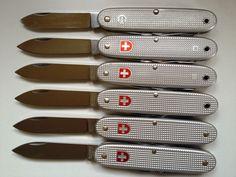 Evolution du couteau du soldat suisse