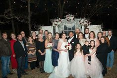 The whole bride's family