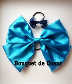 Handmade Disney princess hair accessory---little mermaid---Ariel---turquoise blue ribbon--