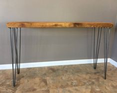 Reclaimed Wood Console Table w/ Hairpin Legs, Handmade, Salvaged Barn Wood Planks, Reclaimed Industrial Sofa Table, Wood Table Rustic, Rustic Sofa, Barn Wood, Door Dining Table, Wood Sofa Table, Narrow Console Table, Small Kitchen Furniture, Farmhouse Furniture