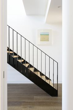 Stairs | Staircase | Contemporary | Feature | Steel | American Oak | Timber | Floorboards | Interior Design | Architecture | Treads