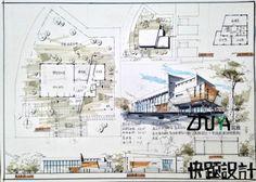 筑雅手绘暑期建筑快题特训学员作品_厦门筑雅手绘