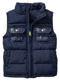 Reversible puffer vest   Gap Factory