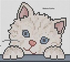 15 Ideas crochet baby blanket animals cross stitch for 2020 Cat Cross Stitches, Cross Stitch Charts, Cross Stitching, Cross Stitch Embroidery, Cross Stitch Patterns, Hand Embroidery, Baby Knitting Patterns, Crochet Patterns, Embroidery Patterns