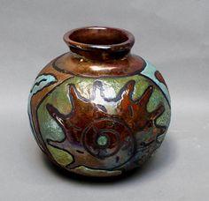Vase Raku Pottery Ceramic Pot Starfish Home by MicheleMorehouse