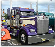 Purple at a truck show..