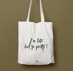 Sac Tote bag I'm Late But So Pretty sac cabas par OnTheOtherFish