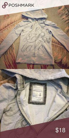 Aeropostale sweatshirt Aeropostale full zip hoodie sweatshirt. Great condition. Size M Aeropostale Tops Sweatshirts & Hoodies