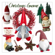 """""""Christmas Gnome!"""" by whirlypath ❤ liked on Polyvore featuring interior, interiors, interior design, home, home decor, interior decorating, Improvements, Kartell, GlucksteinHome and Shishi"""