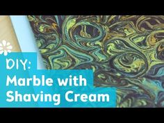 DIY Marble Pattern with Shaving Cream - simple and fun! A great way to produce back ground textures Shaving Cream Painting, Lemon Painting, Art Videos For Kids, Marble Art, Marble Pattern, Cool Paintings, Pattern Drawing, Business For Kids, Painting For Kids
