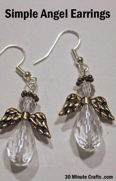 simple angel earrings