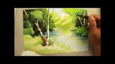 watercolor painting trees demo - YouTube