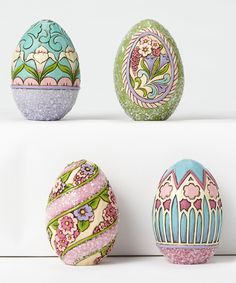 Another great find on #zulily! Heartwood Creek Victorian Mini Egg - Set of four by Jim Shore #zulilyfinds