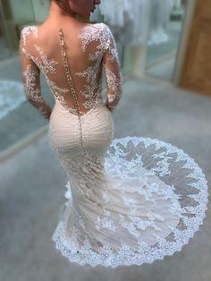 Blue by Enzoani Kate Mermaid Wedding Dress Dream Wedding Dresses, Bridal Dresses, Wedding Gowns, Bridesmaid Dresses, Prom Dresses, Mod Wedding, Wedding Day, Trendy Wedding, Wedding Bride