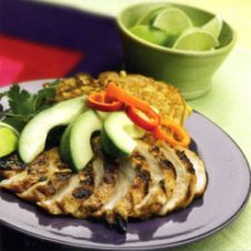 What's for Dinner, Honey?-2  Chicken Fajita Grill with Avocados and Honey Corn Cakes
