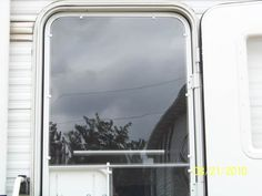 tutorial for adding lexan/plexi-glass to screen door, let in light without losing heat or a/c