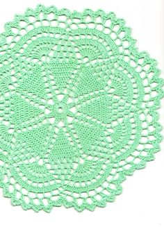 Christmas gift, Crochet doily, lace doilies, table decoration, crocheted doilies, centre piece, hand made, table runner, napkin, mint green